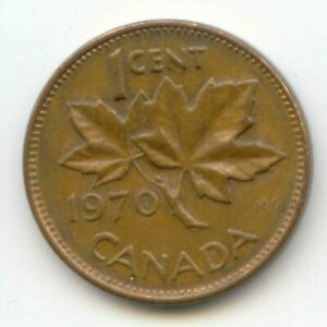 CANADA 1970 CANADIAN PENNY ONE CENT 1C  COIN LOT D