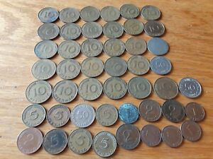 GERMANY LOT OF 47 COINS