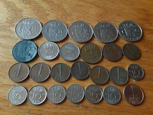 NETHERLANDS LOT OF 25 COINS 1878  1986