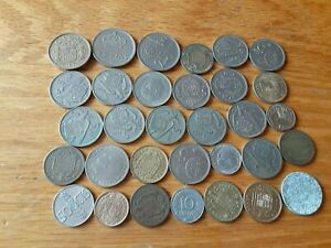 SPAIN LOT OF 32 COINS