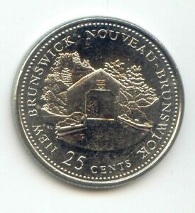 CANADA 1867   1992 NEW BRUNSWICK QUARTER CANADIAN 25 CENT 25C  EXACT  COIN