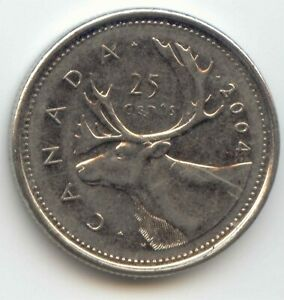 CANADA 2004 CANADIAN QUARTER TWENTY FIVE CENT 25C EXACT COIN SHOWN