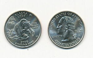 2008 D ALASKA UNCIRCULATED STATE QUARTER