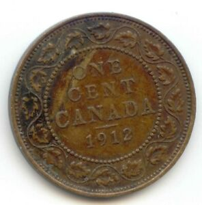 CANADA 1912 1 CENT COIN CANADIAN LARGE PENNY 1C EXACT COIN