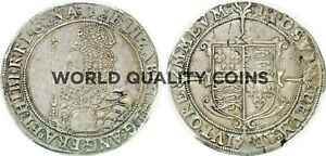 Click now to see the BUY IT NOW Price! VERY  GREAT BRITAIN 1601 HALF 1/2 CROWN SILVER ELIZABETH I LONDON PCGS XF45