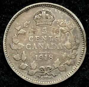 1918 CANADA FIVE CENTS