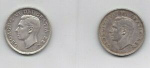 Click now to see the BUY IT NOW Price!  12  GEORGE VI & ELIZABETH II CANADA .800 SILVER DOLLARS NICE
