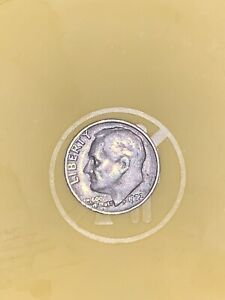 1972 DIME WITH NO MARK