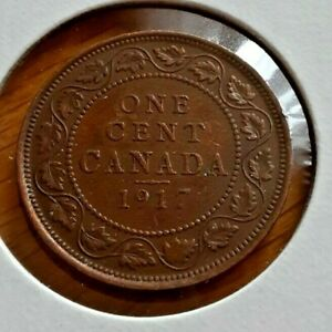 CANADA 1917 1 CENT COIN
