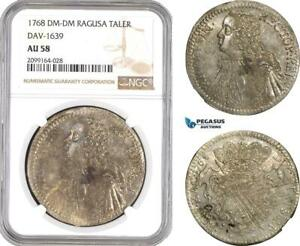 Click now to see the BUY IT NOW Price! AE558 RAGUSA  TALER  TALLERO RETTORALE 1766 DM DM SILVER NGC AU58 POP 1/0