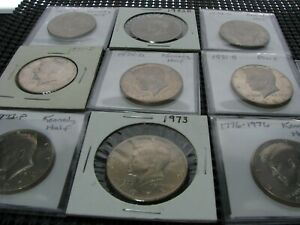 GROUP OF 9 BETTER CONDITION AND PROOF KENNEDY HALVES