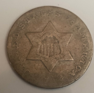 1852 THREE CENT SILVER 3C CIRCULATED