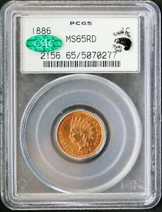 Click now to see the BUY IT NOW Price! 1886 INDIAN CENT PCGS MS65RD CAC EAGLE EYE PHOTO SEAL