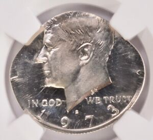 Click now to see the BUY IT NOW Price! NGC 50C 1973 S KENNEDY HALF ON NICKEL PLANCHET PF67