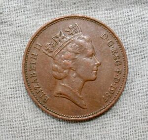 1987 GREAT BRITAIN TWO PENCE COIN  2 PENCE