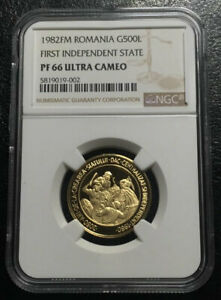 Click now to see the BUY IT NOW Price! ROMANIA 500 LEI 1982 GOLD NGC PF66UC
