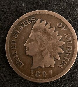 1897 UNITED STATES INDIAN HEAD CENT.  CENT HARDER AND HARDER TO FIND.