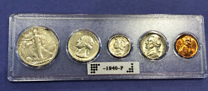 1940 P US MINT COIN SET GREAT AFFORDABLE PRESENT INVESTMENT OR GIFT. 90  SILVER