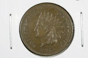 1867 INDIAN HEAD CENT CHOICE AU