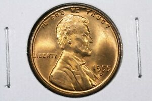 1955 D LINCOLN CENT GEM RED BU