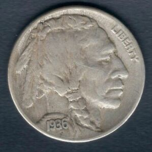 1936 S INDIAN HEAD BUFFALO NICKEL   NICE CIRCULATED COIN   TONED   HI RES SCANS
