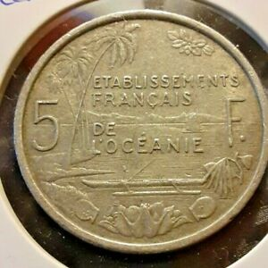 FRENCH OCEANIA 1952 5 FRANC COIN