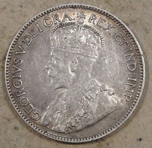 CANADA 1912 25 CENTS DECENT MID BETTER GRADE COIN