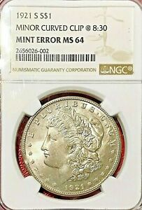 Click now to see the BUY IT NOW Price! 1921 S MORGAN DOLLAR NGC MS 64 CLIPPED PLANCHET ERROR