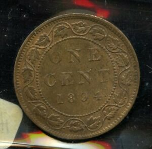 1894 CANADA LARGE CENT   ICCS MS 62 TRACE RED
