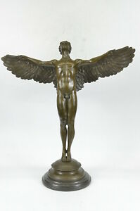 ADOLPH WEINMAN RISING DAY WINGED MAN HOT CAST CLASSIC BRONZE SCULPTURE FIGURINE