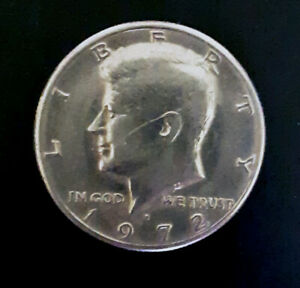 1972 D KENNEDY HALF DOLLAR  GOOD CONDITION  48 YEARS OLD