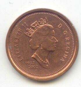 CANADA 1952   2002 PENNY CANADIAN 1 CENT MAPLE LEAF 1C EXACT COIN SHOWN