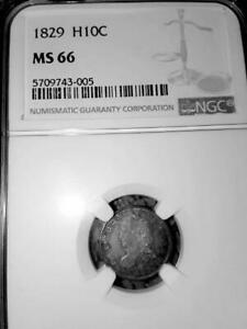 Click now to see the BUY IT NOW Price! INVESTOR SPECIAL :  MS66 1829 HALF DIME   NGC VALUE: $5100  .