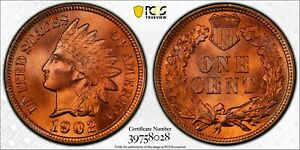 Click now to see the BUY IT NOW Price! 1902 INDIAN CENT PCGS MS67  RD STUNNING BLAZING RED
