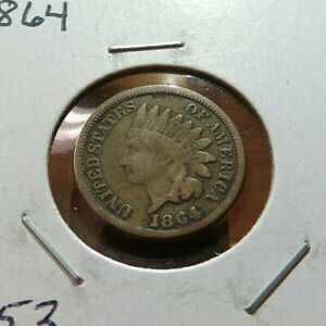1864 INDIAN HEAD CENT LOT L153