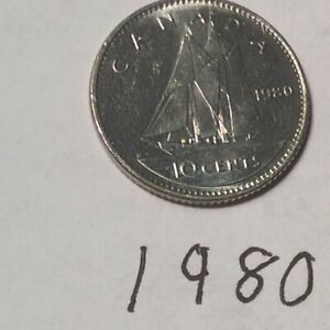 CANADA 1980 10 CENTS CIRCULATED