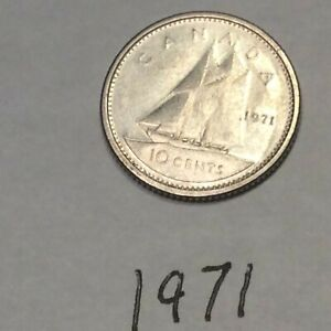 CANADA 1971 10 CENTS CIRCULATED