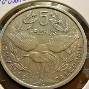 NEW CALEDONIA 1952 5 FRANC COIN
