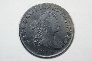 1806/5 DRAPED BUST HALF DOLLAR O 103 R2 VF