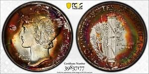 Click now to see the BUY IT NOW Price! 1936 MERCURY DIME PCGS MS68 FB CAC NEON PURPLE AND RAINBOW TONING TOP POP