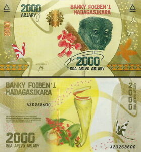 MADAGASCAR   2000 ARIARY 2017 FDS   UNC