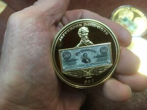 1861 JEFFERSON DAVIS SESQUICENTENNIAL $50 BANKNOTE COMMEMORATIVE PROOF COIN