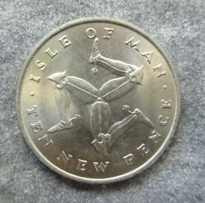 ISLE OF MAN  1971   10P   COIN UNC