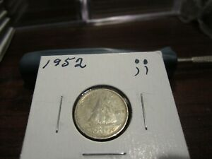 1952   CANADA 10 CENT COIN   CANADIAN DIME   CIRCULATED
