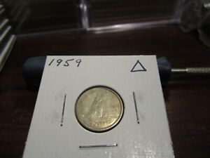 1959   CANADA 10 CENT COIN   CANADIAN DIME   CIRCULATED
