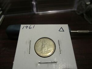 1961   CANADA 10 CENT COIN   CANADIAN DIME   CIRCULATED