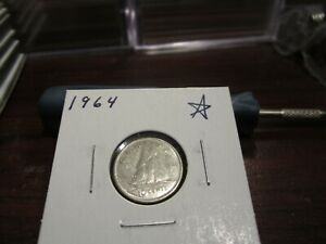 1964   CANADA 10 CENT COIN   CANADIAN DIME   CIRCULATED