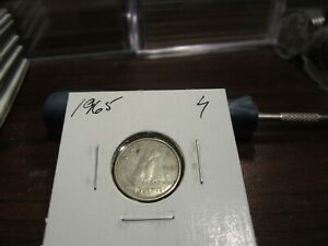 1965   CANADA 10 CENT COIN   CANADIAN DIME   CIRCULATED