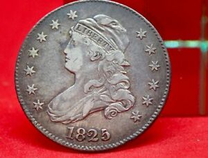 1825/4/2 CAPPED BUST QUARTER R6   LESS THAN 250 KNOWN