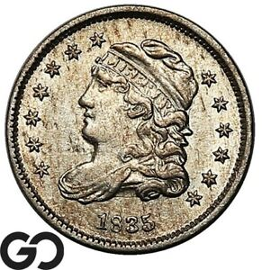 1835 CAPPED BUST HALF DIME CHOICE AU EARLY COLLECTOR SILVER
